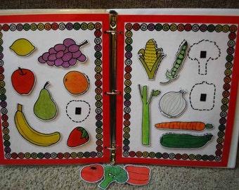 Fruit and Vegetable Printable Game