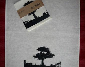 Tree - Linen Tea Towel