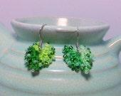 Earrings in Leaf Drop Spring Green