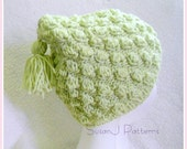 Bobble Stitch Hat - Knitting Pattern - instant download