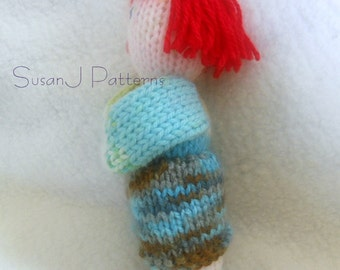 Instant download - Knitting Pattern  - A Red Blossom Dolly - Laura