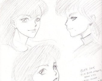 Anime art/fanart by B Wilde Trickster manga character sketches 5 2003