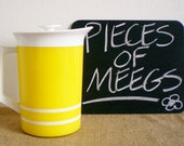 Vintage Modern Pitcher- Morgan Designs- Yellow