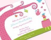 Printable and Editable Invitations - Alice in Wonderland Inspired Birthday Party - by Sweetly Sweet