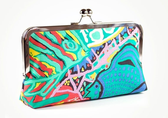 Clutch bag with fish