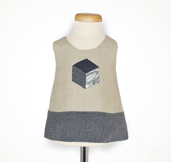 ON SALE Was 43 now 20 Baby pinafore dress with patchwork