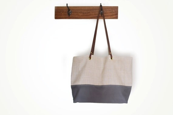 ON SALE Was 85 now 65 Hemp and leather tote