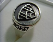 solid sterling silver 925 Mercedes-Benz Maybach Zeppelin ring