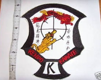 elvis ed parker  IKKA SUIT PATCH   kenpo  karate   dragon   tiger  competition