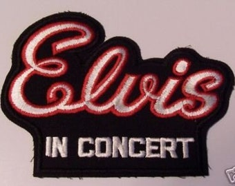 ELVIS IN CONCERT 1977 collectible patch for jacet
