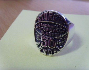 BLACKHILLS STURGIS 50th ANNIVERSARY solid sterling silver 925