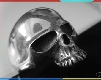 skull  925 all size Hell Rider Harley Skull Ring Sterling Silver 925