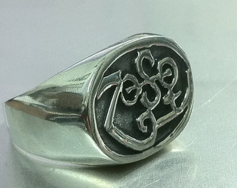 Led Zeppelin Zoso Jimmy Page Les Paul Sg Ring Solid Sterling Silver 925 All Size Available