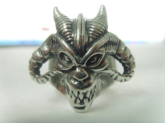 iron maiden eddie the devil  666 NUMBER OF the BEAST silver ring all size