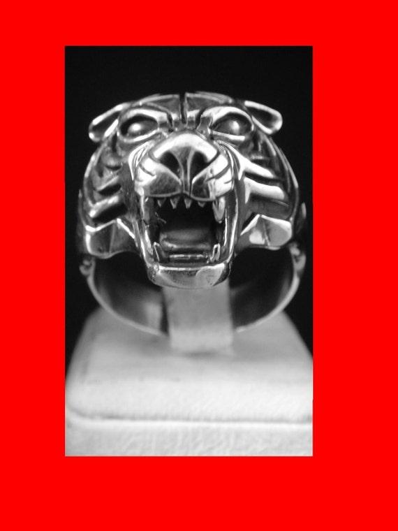 TIGER KING'S KENPO tigermen ed parker karate ikka Solid Sterling Silver 925 ring