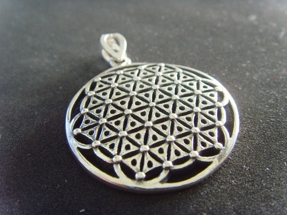 Flower of Life Sacret Kabbalah 925 Silver Pendant david