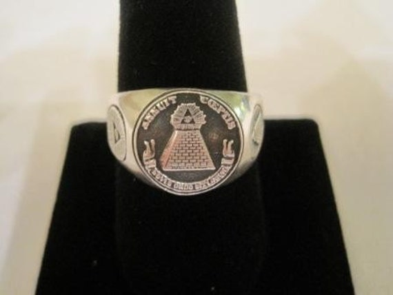 new sterling silver 925 MASONIC ANNUIT COEPTIS ring