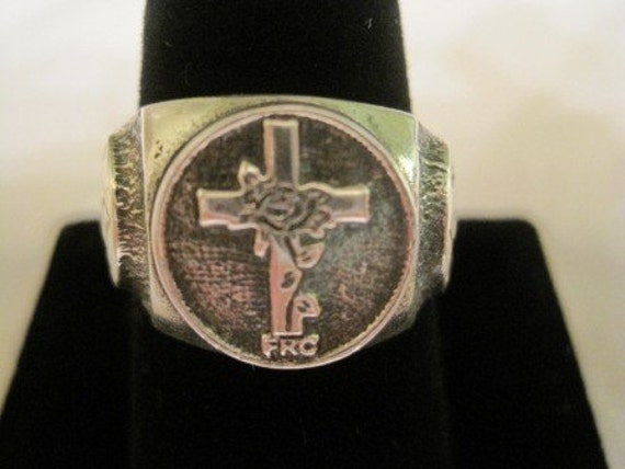 new solid sterling silver ring  rosicrucian ROSE CROIX F.R.C