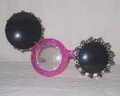 Double Vision - Rhinestone and Spiked Flip Up Mouse Glasses