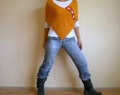 Mustard Yellow Poncho Shawl Wrap Capelet Fall Autumn Fashion Winter Accessories