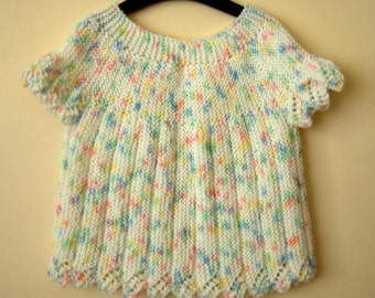 SALE % 25 off Knit Baby Cardigan, Colorful Baby Vest Sweater, Gift for baby