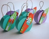 Surf Board Party Favor Bag - One Bag - Beach Bum Surfer Gift Bag - Colorful Ocean Beach Bag - Purple Turqoise Gift Bag - Orange White Green