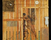 Archetype:  Venus.   Encaustic mixed media Assemblage original wall or shelf art by Leslee Lukosh of Foundturtle in Portland, Oregon