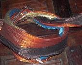 SALE was 9.95. 1980s Classic Metallic Disco Multicolored Scarf.   Designers Den vintage overstock, never worn.