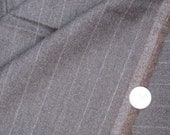 G) Scottish Wool Blend   Fabric. 1 yard by 60  inches.  Dark Brown with White stripe.