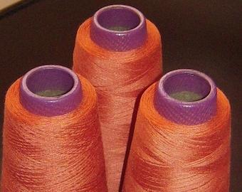 3 LARGE SPOOLS of Hacienda Thread.  3,000 yards each.  Stabilized Spun Polyester.