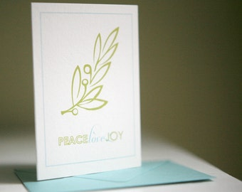 Holiday Cards - Olive Branch Christmas Card set