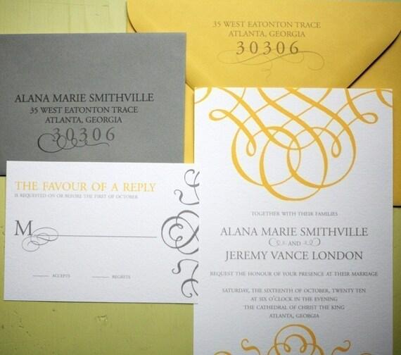 Grande Flourish Invitation Suite