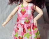 Strawberry Party Dress for BJD (Tiny\/YO-SD size)