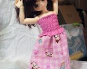 Smocked Kitty Dress for BJD (YO-SD\/LittleFee)