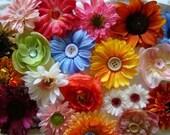 silk boutique flower clips