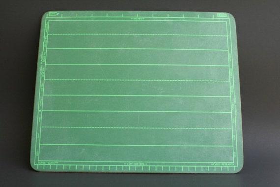 Vintage Student Chalkboard Green