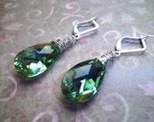 Plumage - Stunning Genuine Swarovski and Sterling Silver Earrings