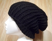 Urban - Unisex Black Ribbed Knitted Hat - Original