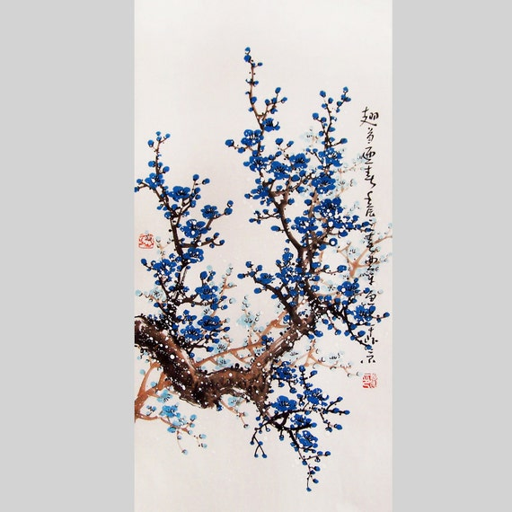 Cherry blossom painting Original painting chinese art -Lovely cherry blossom tree No.35
