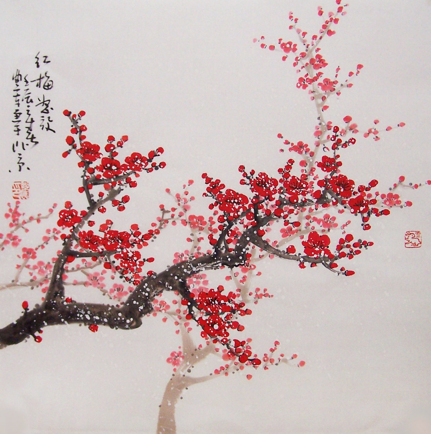 Asian style cherry blossom picture