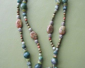 African Turquoise Pendant Necklace