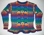 Five/ Six Year Animals Rainbow Sweater