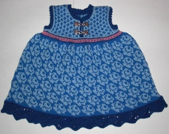 One and a Half Year Blue Roses Dress
