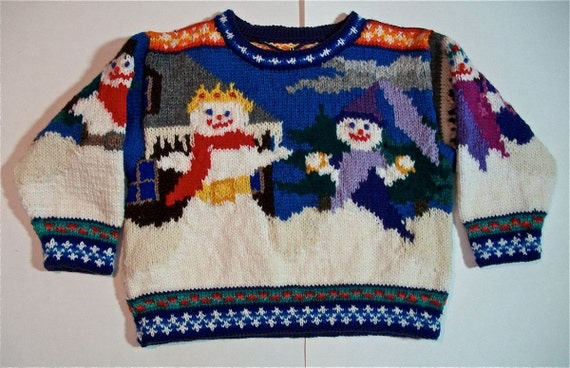 Three Year Snowmen Sweater
