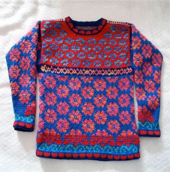 Nine/Ten Year Flowers Sweater