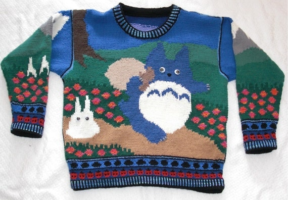 Womens Small Totoro Sweater