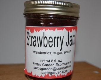 Handmade Organic Farm Grown  Preserves, Organic Strawberry jam  - Can you imagine anything better
