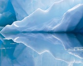 Alaska glacier Ice reflection blue water photo 5x15 print