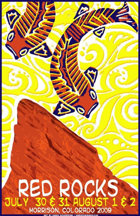 Phish Poster - Red Rocks CO  2009