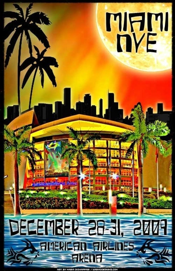 Phish Poster Aaa Miami Nye 2009 By Mariaddesigns On Etsy